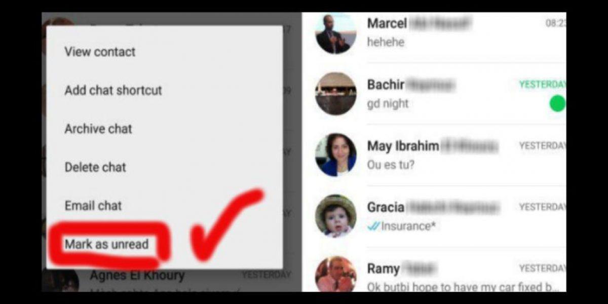 WhatsApp ya permite marcar conversaciones como