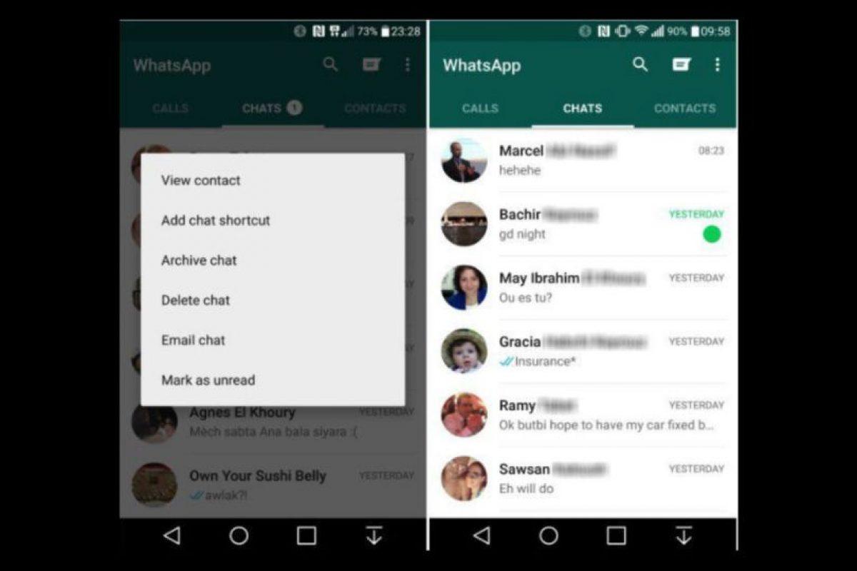 Por el momento solo está dispoible para Android Foto:WhatsApp. Imagen Por: