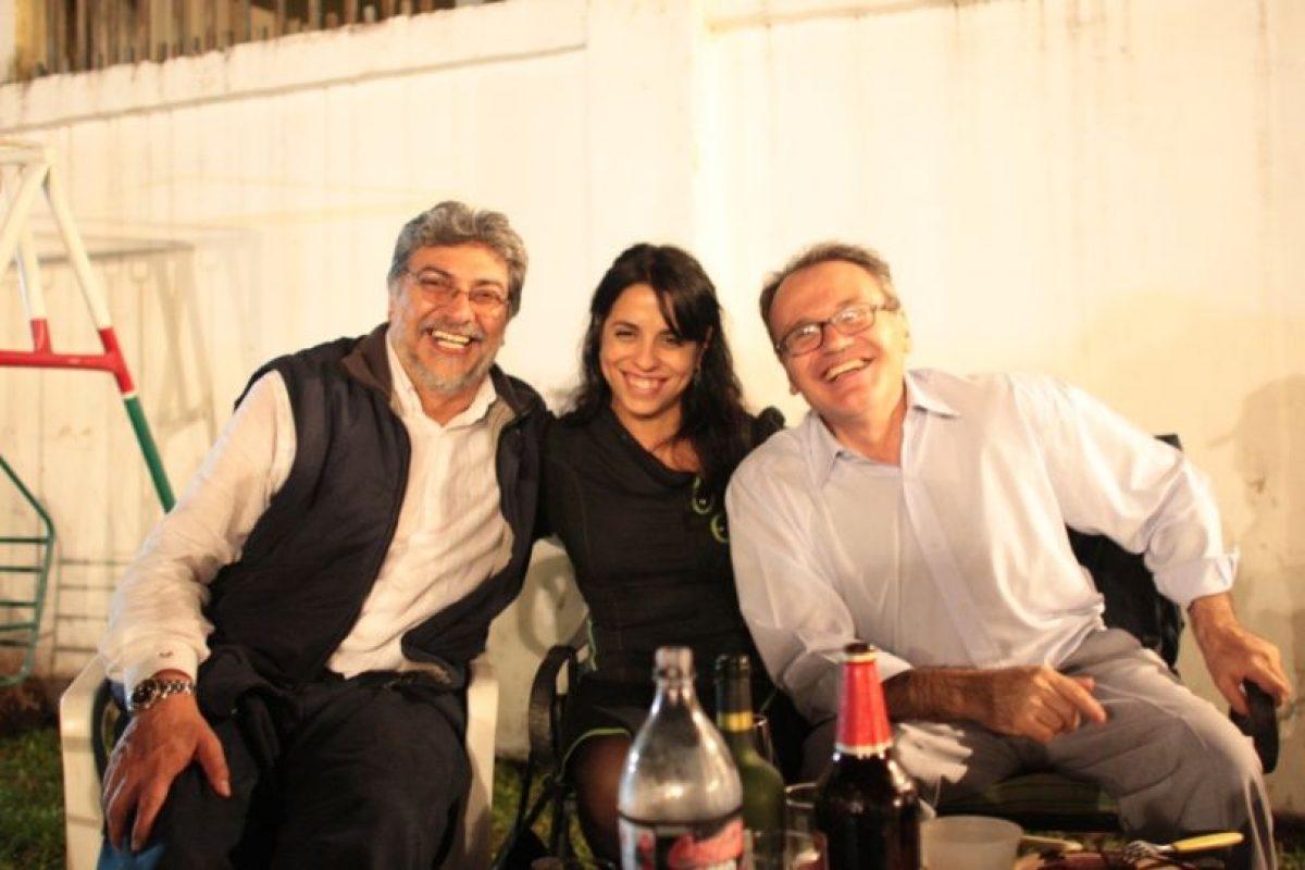 Con Fernando Lugo, quien fuera presidente de Paraguay. Foto:victoriadondaperez.org.ar. Imagen Por: