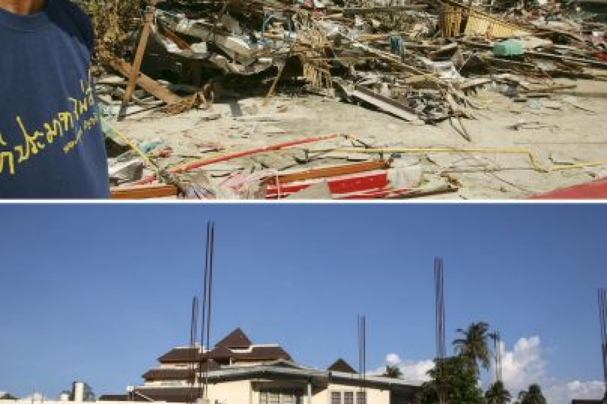 El 26 de diciembre de 2004, un terremoto magnitud 9.1 originó un tsunami en el Océano Índico, que afecto las costas de Indonesia, Tailandia, India, Sri Lanka y otros países. Foto:Getty Images. Imagen Por: