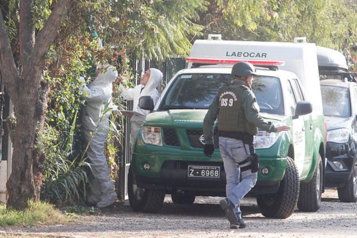 El operativo de Carabineros Foto:Agencia Uno. Imagen Por: