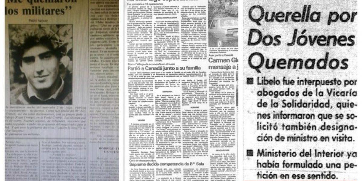 Así informaron los medios el Caso Quemados hace 29 años