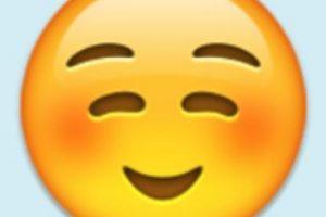 Satisfacción, felicidad o cara niño bueno: Pero su verdadero uso es para coquetear con alguien. Foto:Emojipedia. Imagen Por: