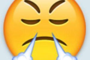 Enojo: Aunque de hecho representa el triunfo al ser una respiración posterior a hacer un gran esfuerzo. Foto:Emojipedia. Imagen Por: