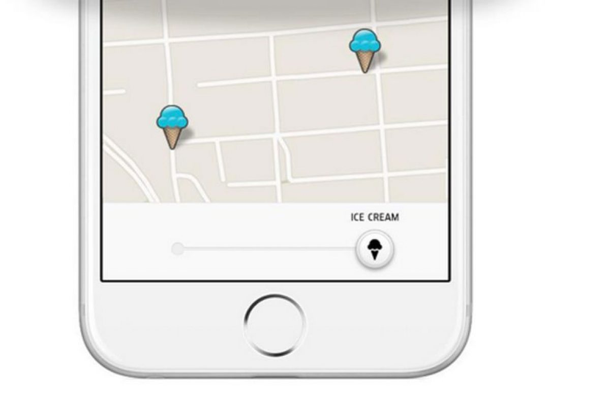 Así es como pueden ordenar un helado con esta aplicación de taxis Foto:Uber. Imagen Por: