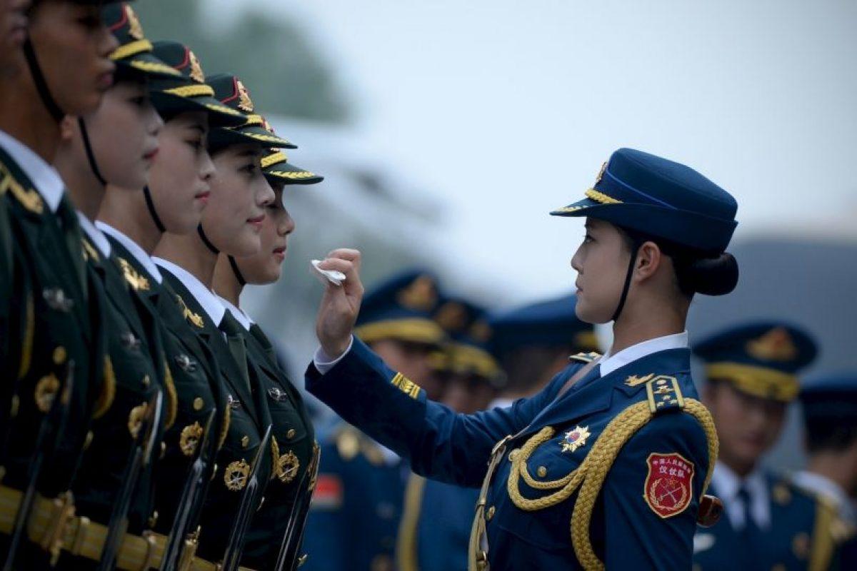Guardias de honor chinas. Foto:AFP. Imagen Por:
