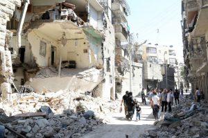 Ruinas producto del conflicto bélico en Siria. Foto:AFP. Imagen Por: