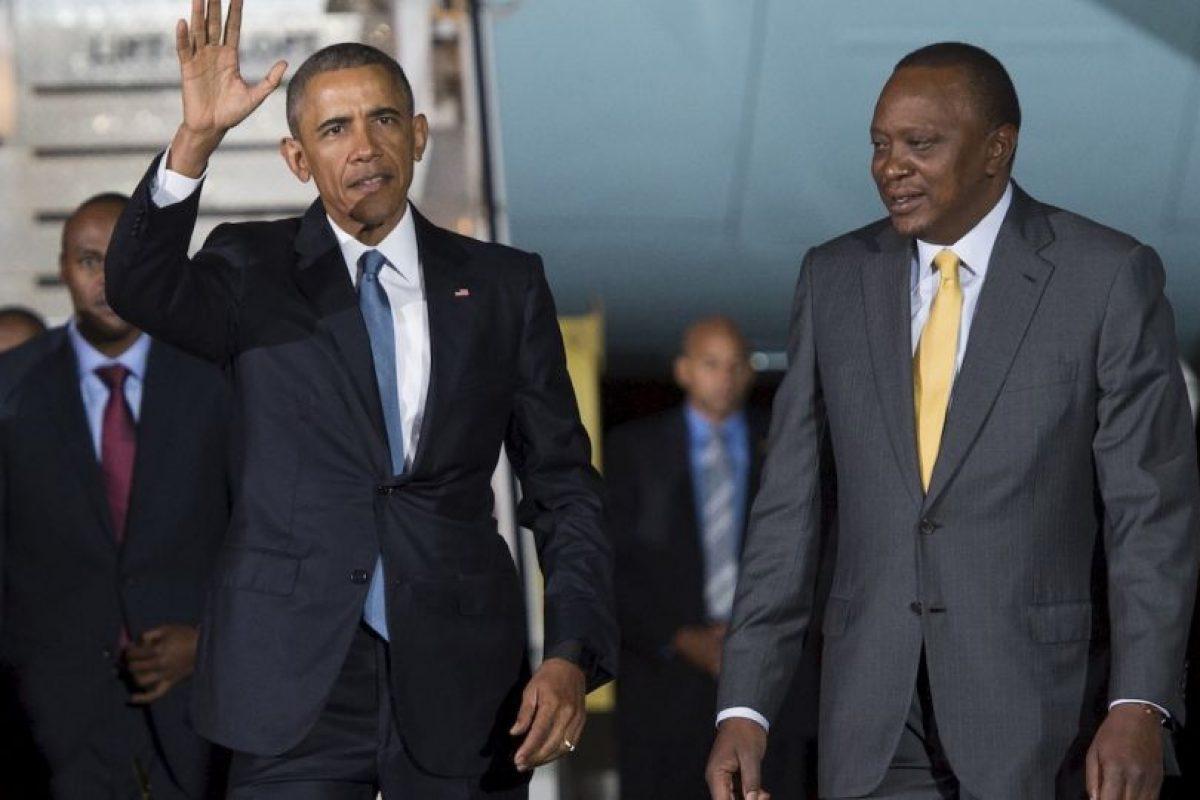 El presidente Barack Obama y el presidente de Kenia, Uhuru Kenyatta. Foto:AFP. Imagen Por: