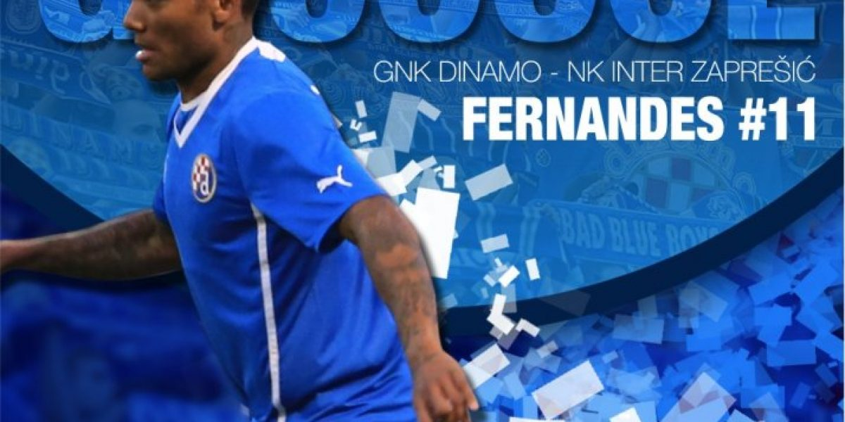 Junior Fernandes se lució con un doblete en goleada del Dinamo Zagreb