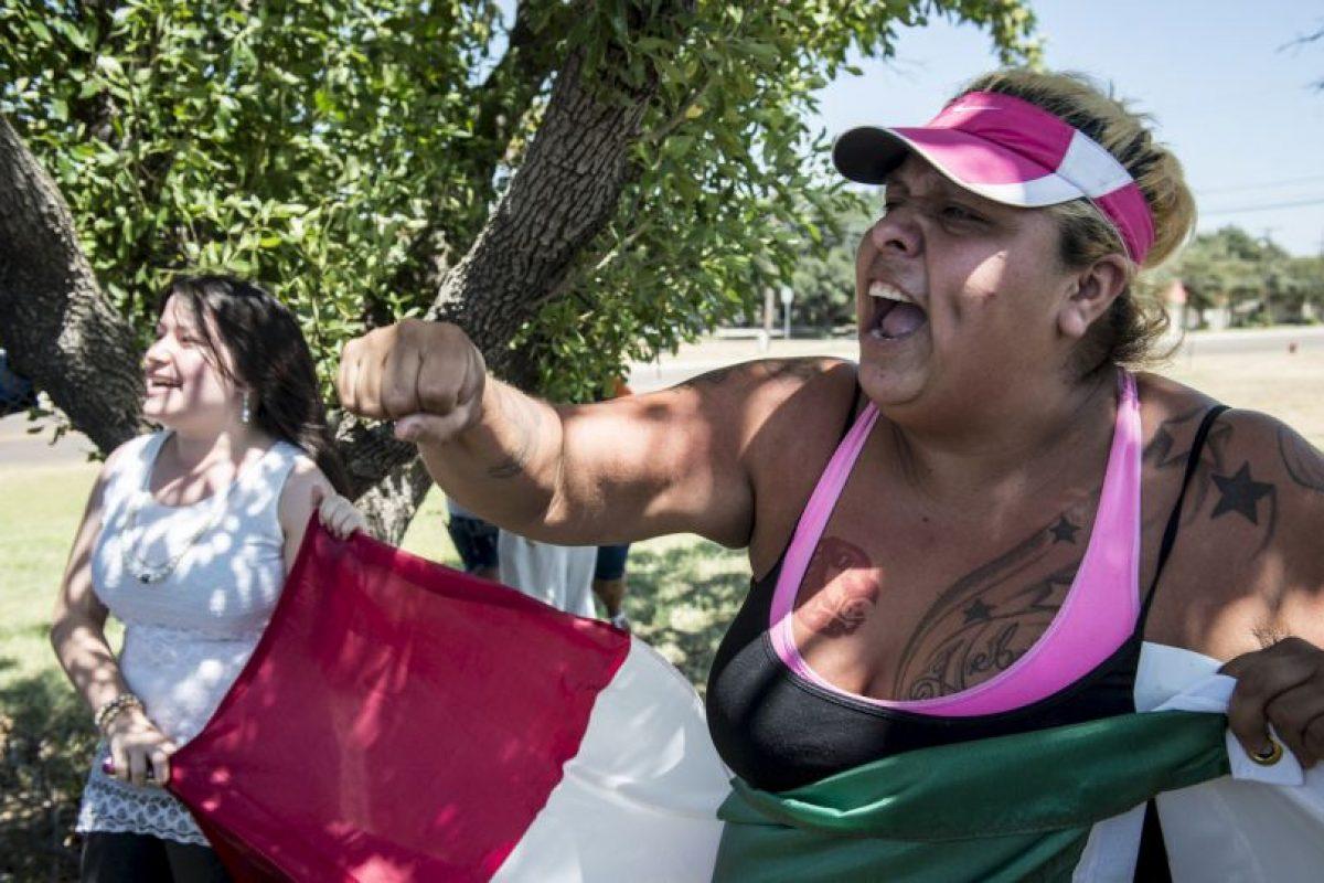 3. Y también hubo manifestaciones Foto:Getty Images. Imagen Por: