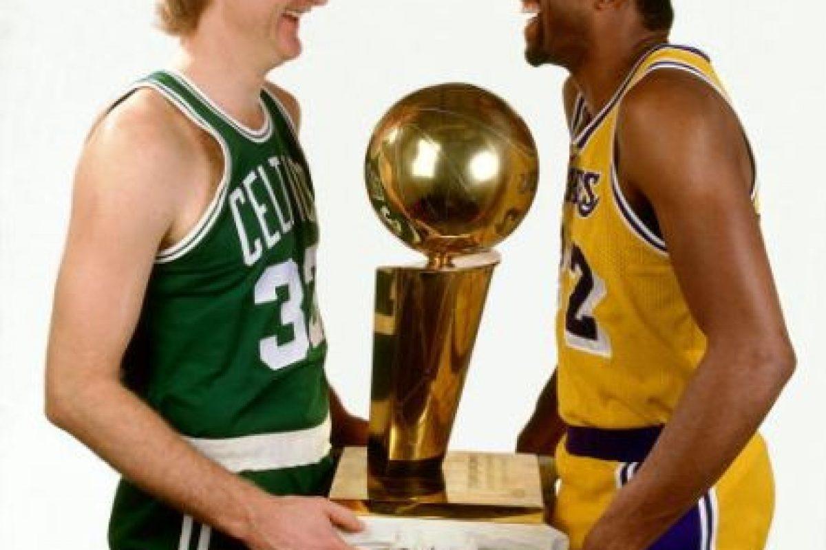 Larry Bird vs. Magic Johnson Foto:Getty Images. Imagen Por: