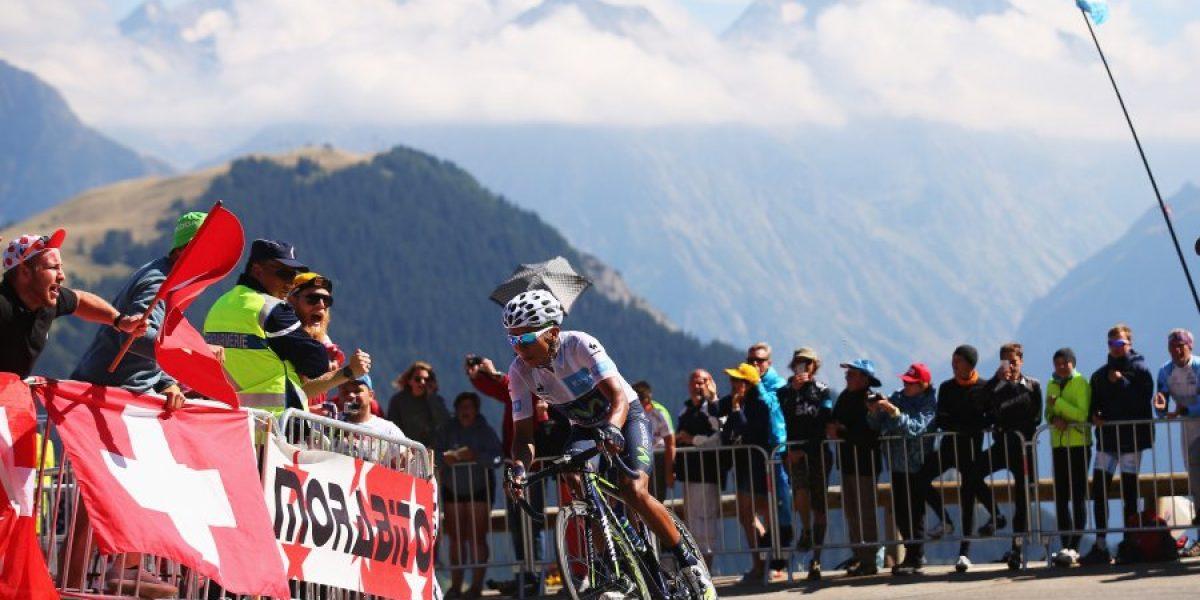 Aficionado francés rinde emotivo homenaje a Nairo Quintana en el Tour de Francia