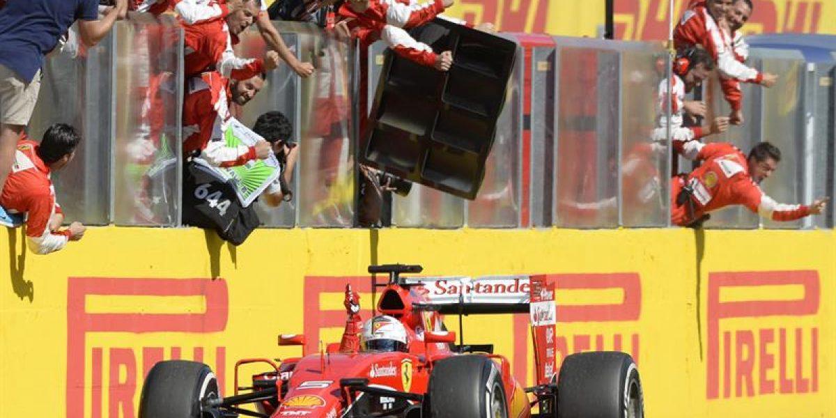 Sebastian Vettel ganó en Hungría y Hamilton sigue líder