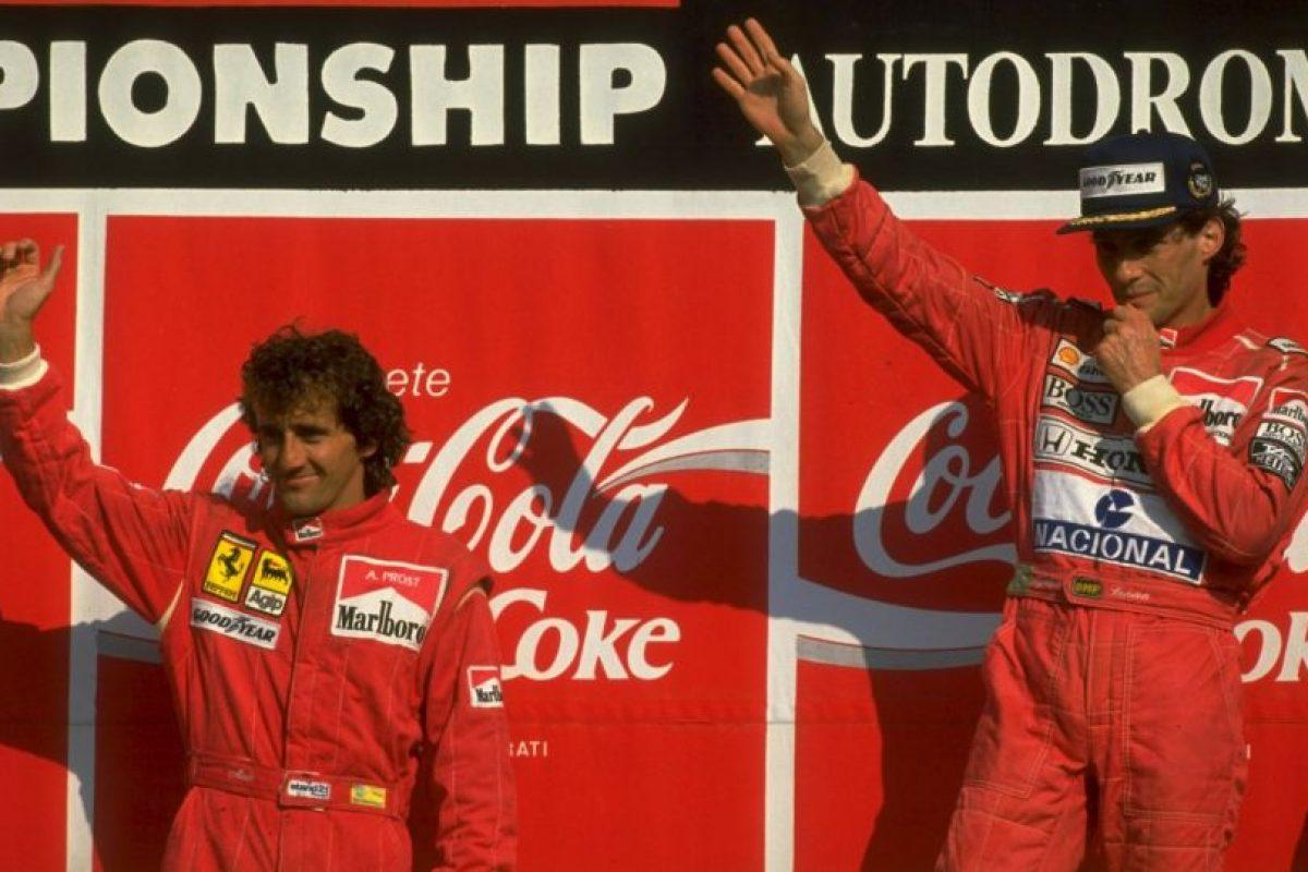 Ayrton Senna vs. Alain Prost Foto:Getty Images. Imagen Por: