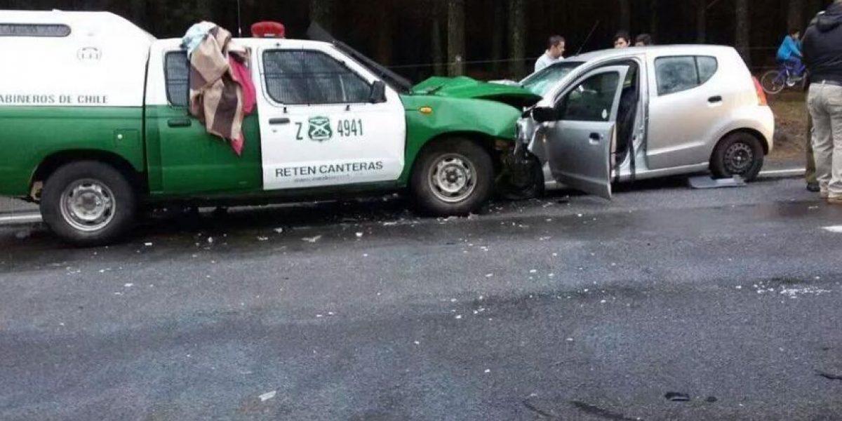 Niña muere en violenta colisión entre automóvil y patrulla de Carabineros en Tucapel