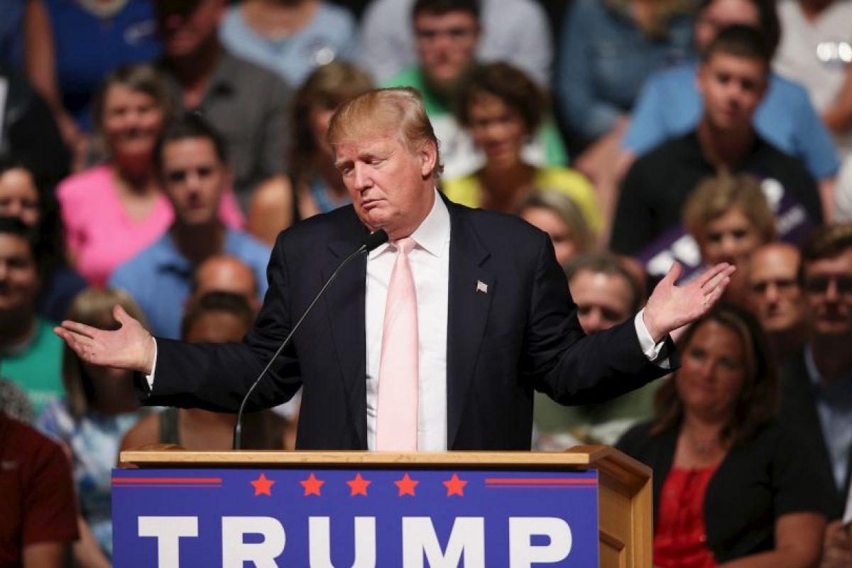 Trump se encuentra al frente de los 16 precandidatos republicanos con el 18% de popularidad. Foto:Getty Images. Imagen Por: