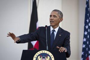 El presidente Barack Obama bromeó sobre sus orígenes durante su visita de Estado a Kenia. Foto:AP. Imagen Por: