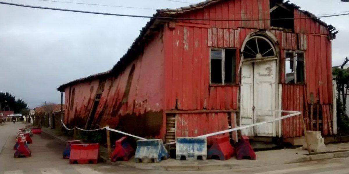 No fue reparado: edificio patrimonial dañado el 27-F se desplomó