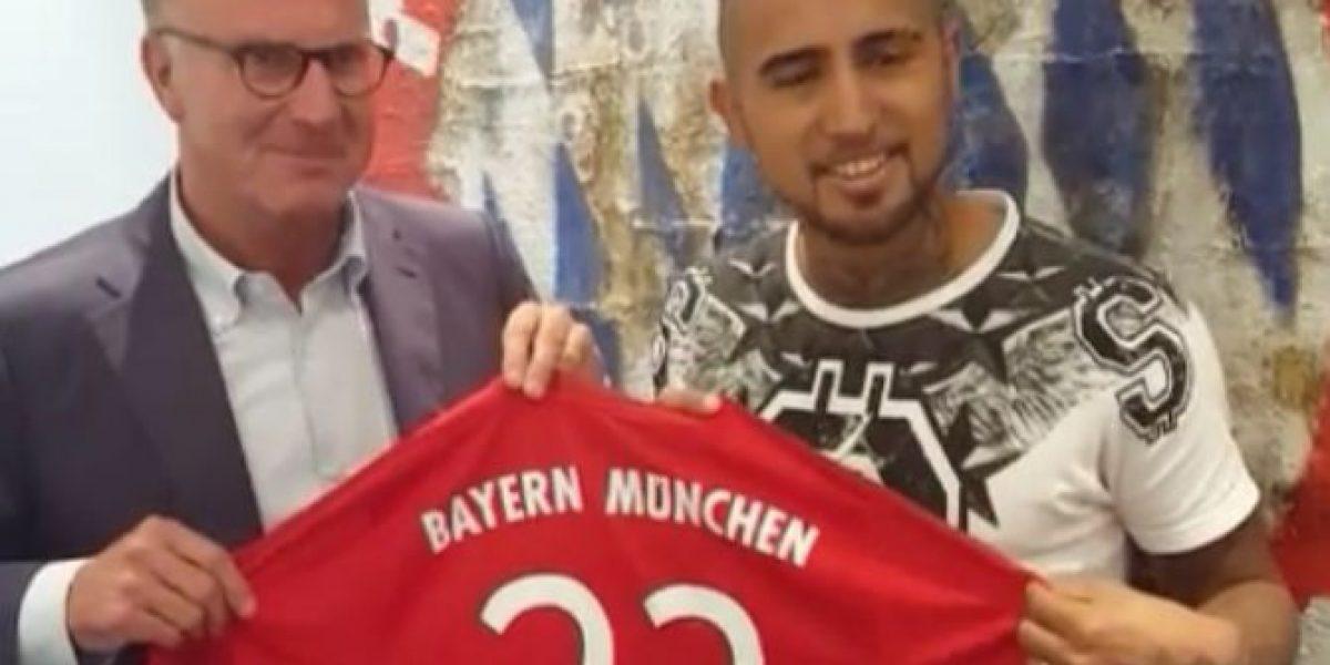 Todo listo: Arturo Vidal usará su histórica camiseta 23 en Bayern Munich