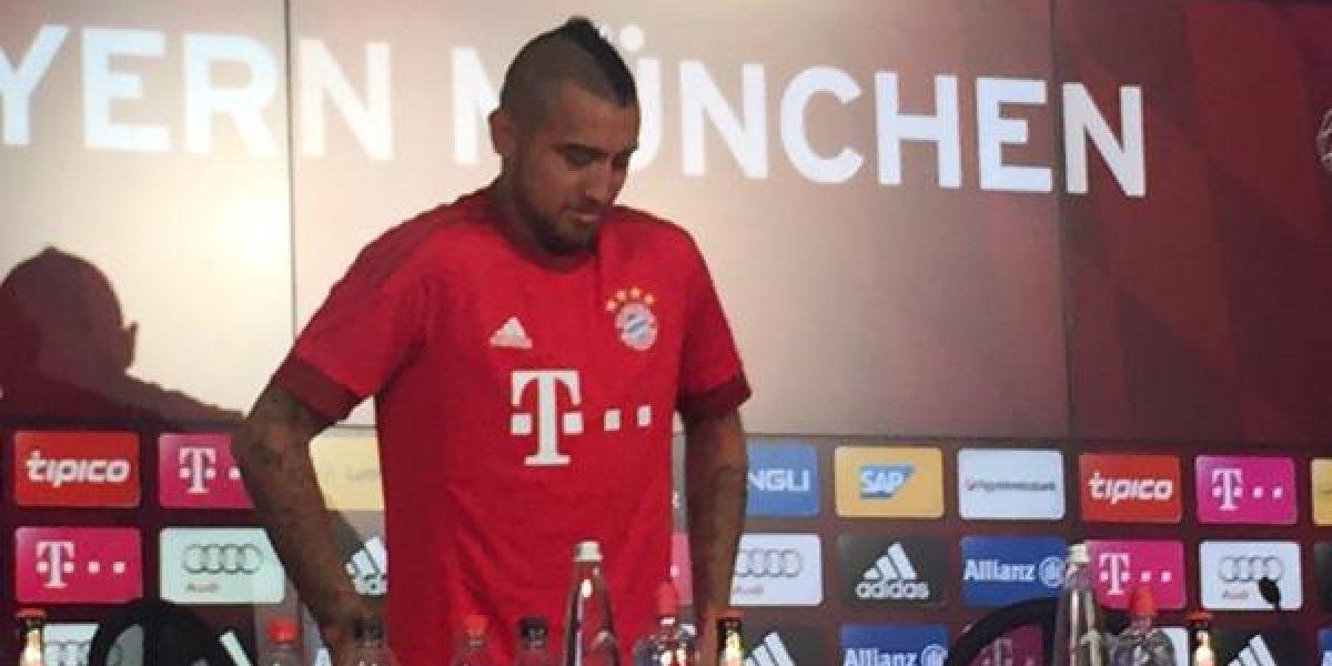 Revisa las mejores fotos de la presentación de Vidal en Bayern Munich