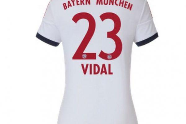 034ab5cfefe61 Estas son las cinco camisetas de Vidal en el Bayern que ya están a la venta