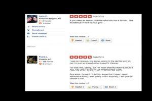 La página de su consultorio está llena de comentarios de odio. Foto:vía Yelp. Imagen Por: