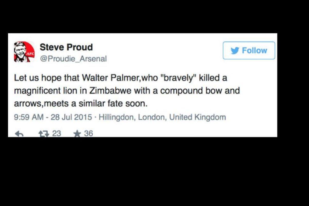 """Ahora Palmer, del que no se sabe su paradero, es """"cazado"""" en Internet. Foto:vía Twitter. Imagen Por:"""