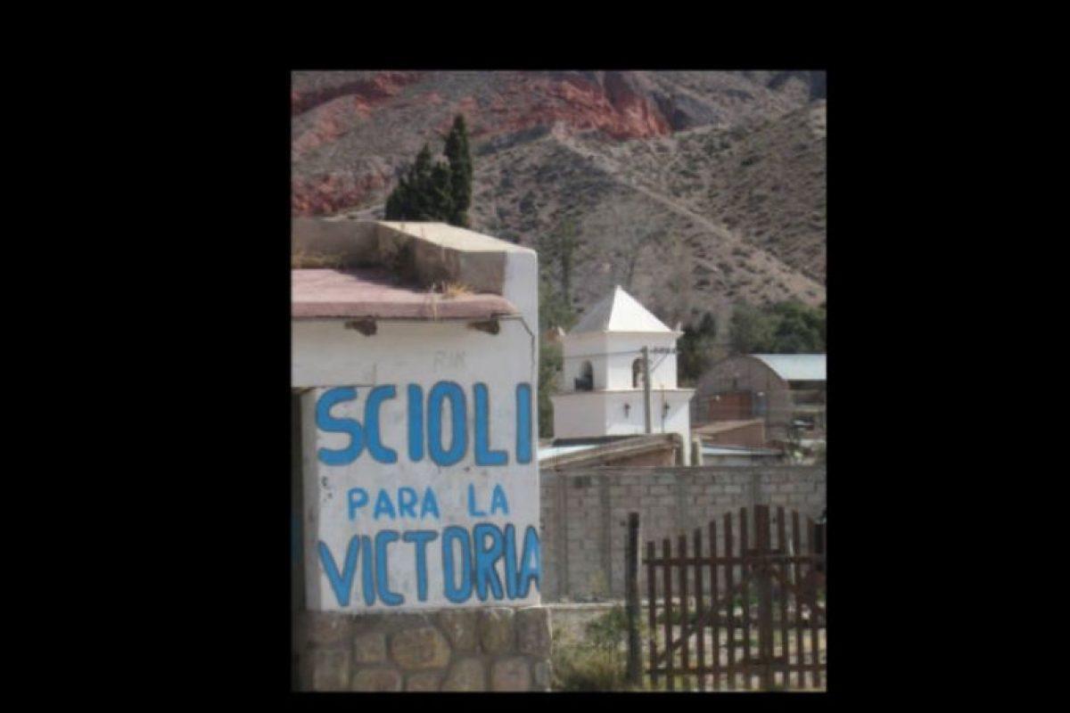 Las pinturas son de una campaña a la presidencia en Argentina. Foto:Vía facebook.com/Viltipoco10000. Imagen Por: