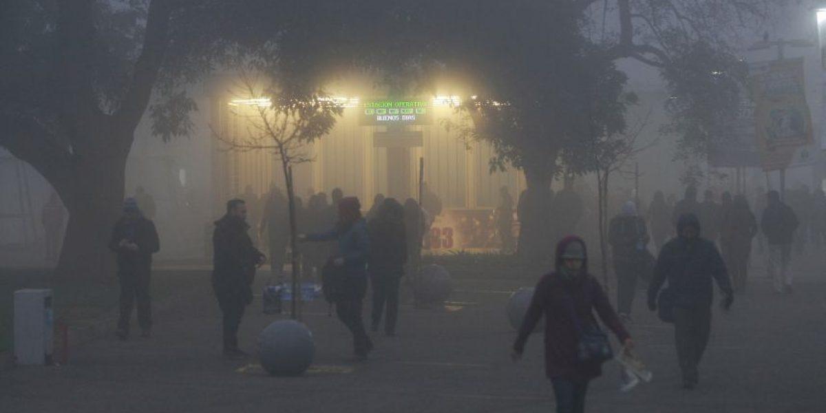 ¿Silent Hill?  Así se vivió la impresionante niebla matinal en Santiago