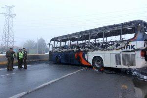 El bus siniestrado Foto:Agencia UnoAgencia Uno. Imagen Por: