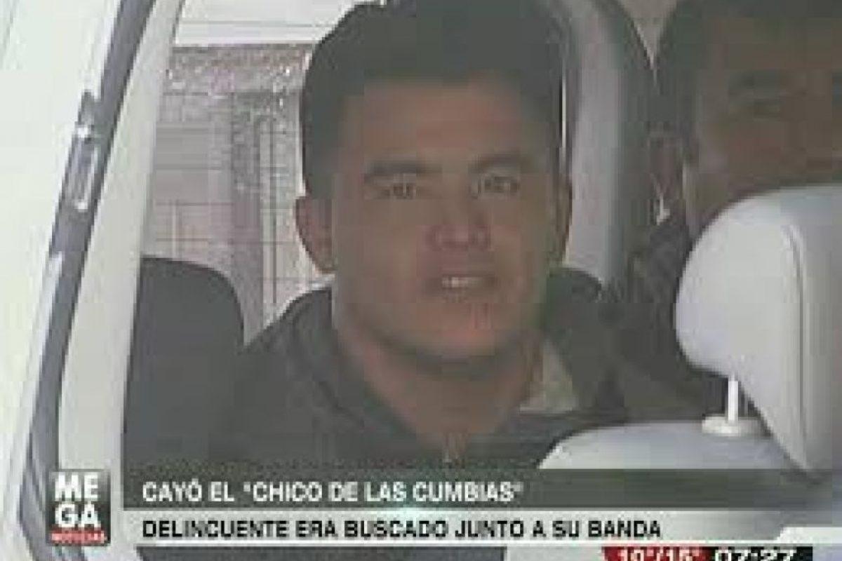 """""""Chico de las cumbias"""", era pareja de la """"Angelina Jolie chilena"""". Luis Alberto Sotomayor González lideraba una banda de ladrones de cajeros automáticos. Foto:Mega. Imagen Por:"""