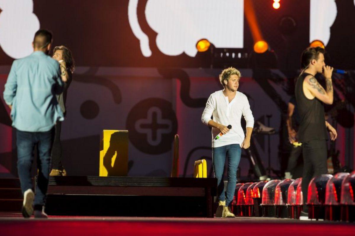 Hace poco, Liam le bajó los pantalones a Harry en pleno concierto. Foto:Getty Images. Imagen Por:
