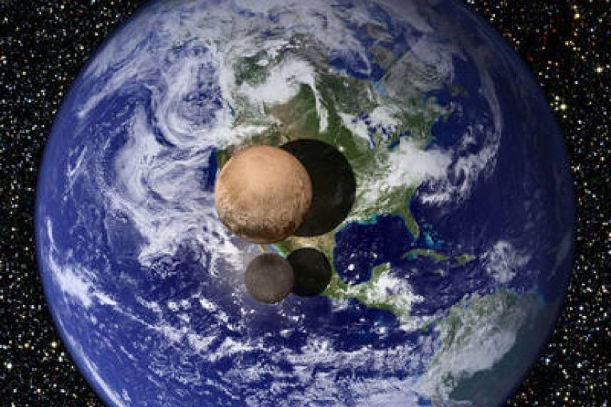 Plutón comparado con la Tierra Foto:NASA.gov. Imagen Por: