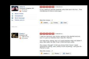 Y en la página de review del consultorio le han dejado mensajes de odio. Foto:vía Yelp. Imagen Por: