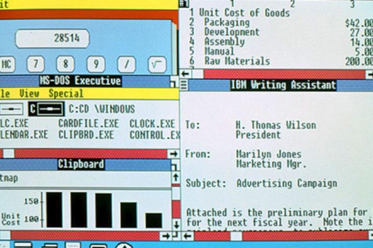 En 1987 Windows lanzó sus nuevas actualizaciones. Windows 2.0 al 2.11 se lanzarán desde esa fecha hasta el año 1990 Foto:Microsoft. Imagen Por:
