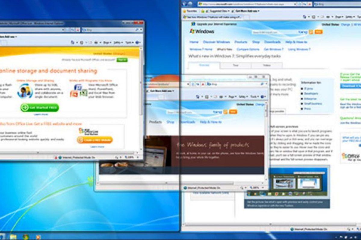 Después la empresa nos sorprendería con Windows 7. Con este sistema, Microsoft terminaría una etapa Foto:Microsoft. Imagen Por: