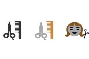 Y se añadieron tres dibujos que aluden a cortes de cabello o salon de belleza Foto:Emojipedia. Imagen Por: