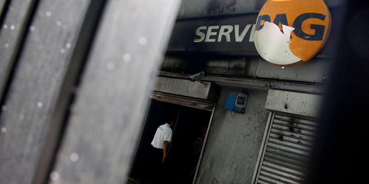 Delincuentes quemaron vivo a cajero en Servipag de Hualpén