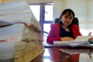 La ministra en visita del caso Matute Johns, Carola Rivas Foto:Agencia Uno. Imagen Por: