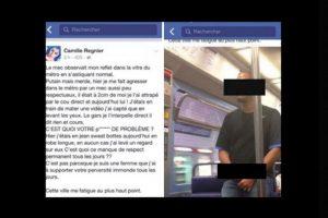 Fue porque un hombre se masturbó casi que encima de ella en el metro de París. Ella le tomó foto y lo denunció. Foto:vía Facebook/Camille Regnier. Imagen Por: