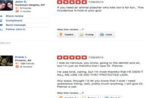 Reviews se odio se agolpan en el sitio de críticas de su consultorio. Foto:vía Yelp. Imagen Por:
