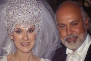 Celine Dion parecía la reina alien de algún lado en su boda con René Angelil. Foto:vía Getty Images. Imagen Por: