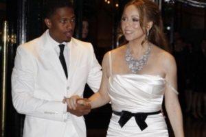 Acá, con Nick Cannon y un vestido alquilado. Foto:vía Getty Images. Imagen Por: