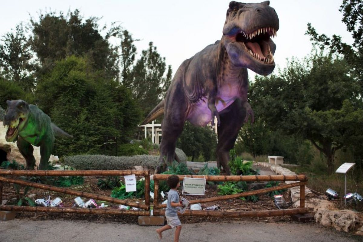 Réplica de un tiranosaurio en un parque de Israel. Foto:AFP. Imagen Por: