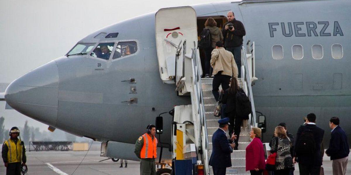 Avión presidencial falla y viaje de Bachelet a Magallanes sufre retraso