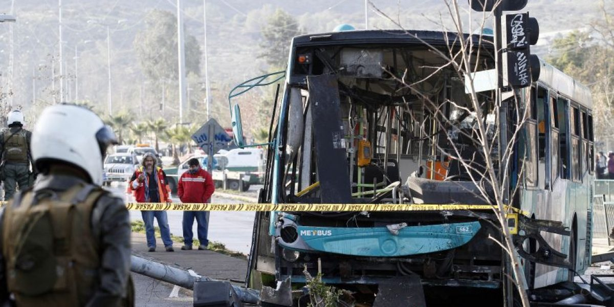 Choque de Transantiago deja un muerto y 5 lesionados en Peñalolén