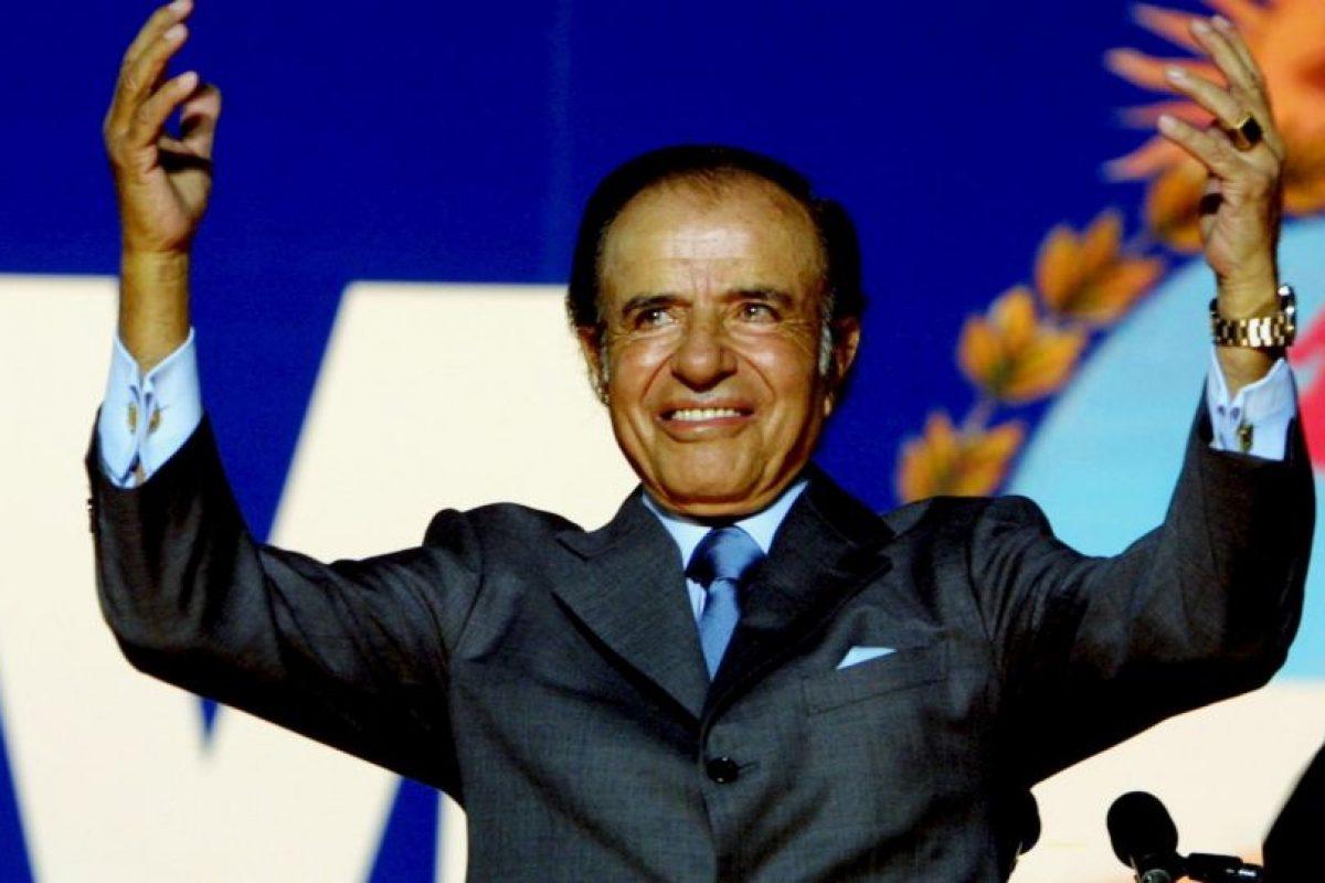 Fue presidente de Argentina de 1989 a 1999 Foto:Getty Images. Imagen Por: