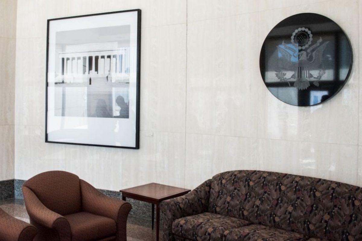 Interior de la representación diplomática Foto:AFP. Imagen Por: