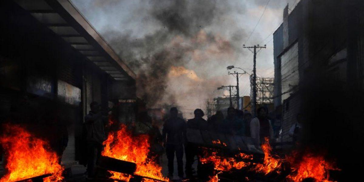 Concepción: vendedores ambulantes encienden barricadas