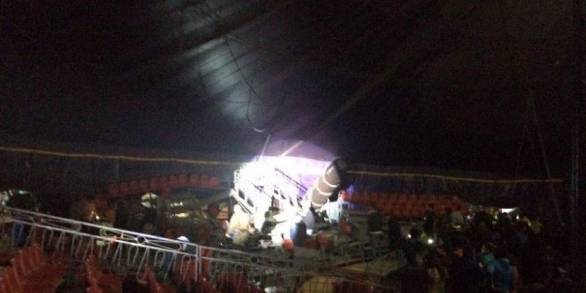 Accidente en carpa de circo deja al menos 30 lesionados